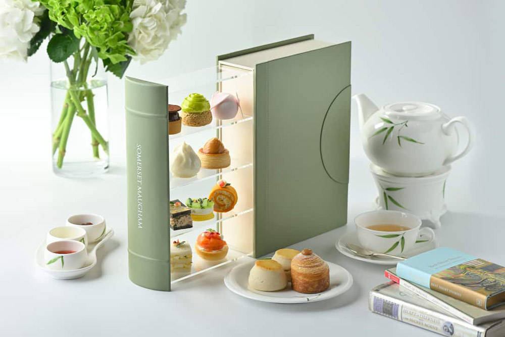 Mandarin Orientals Authors Lounge afternoon tea