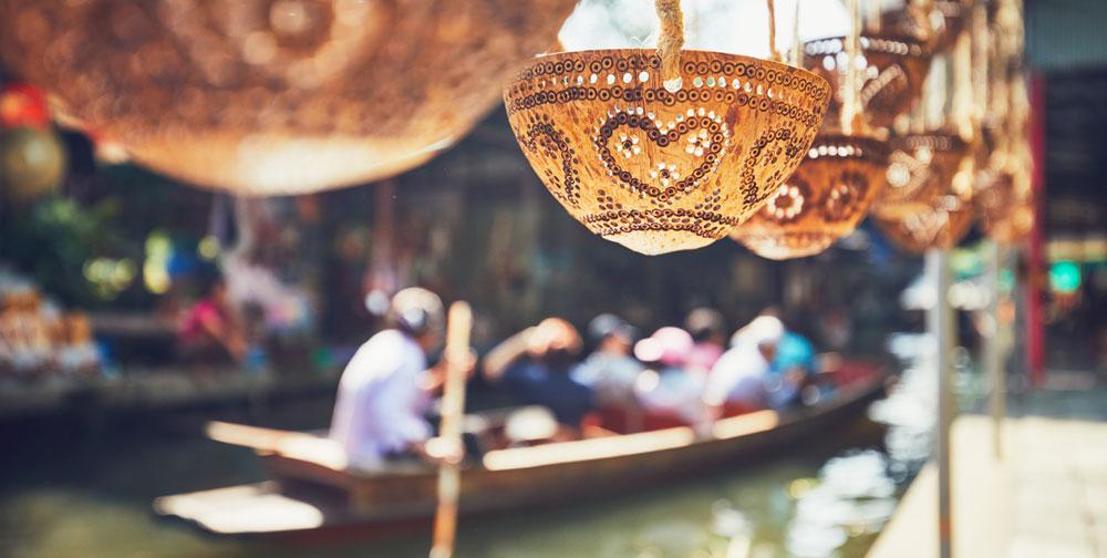 A floating market in Bangkok thailand bangkok day trip